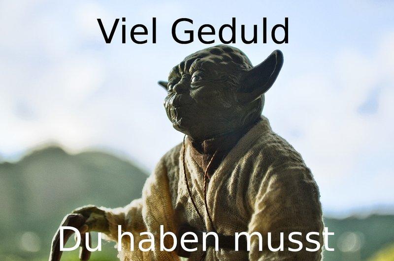 Yoda Geduld